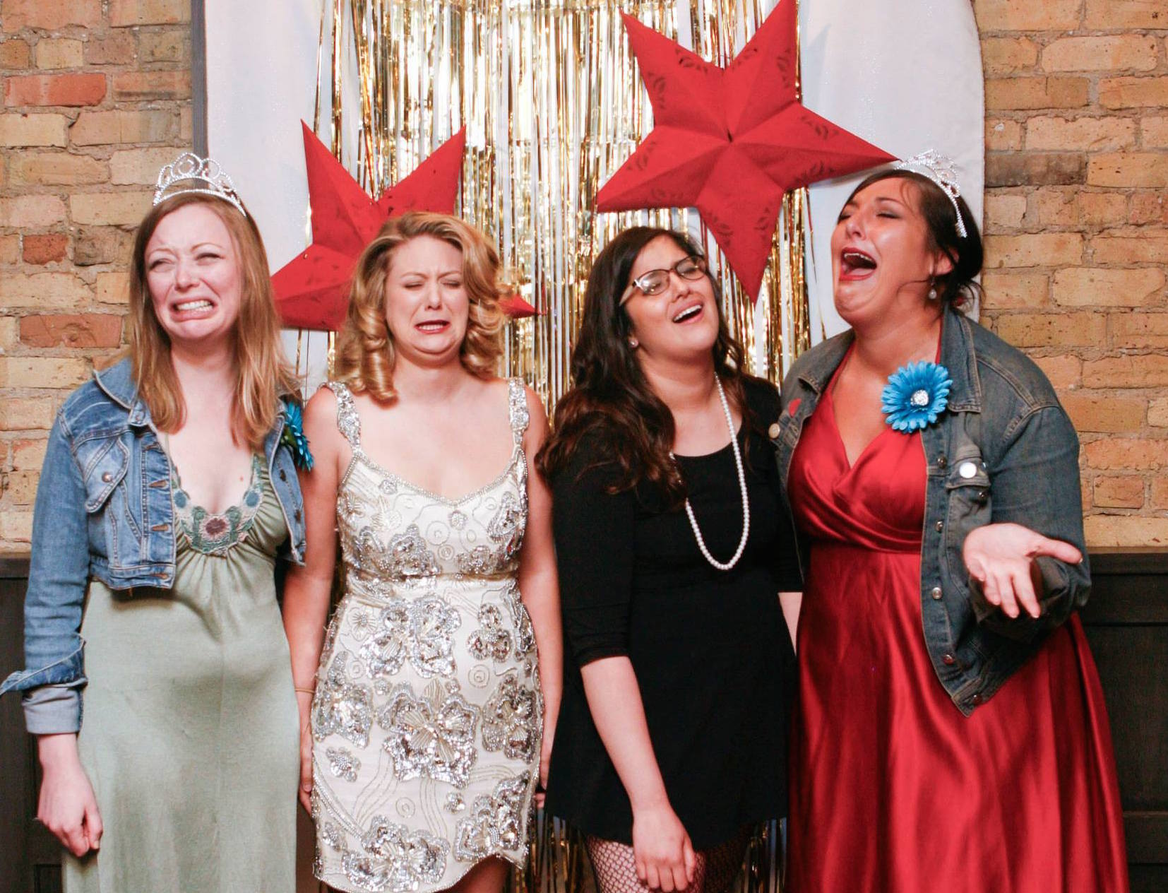 Some of the ladies of Hoo HA Comedy at their prom