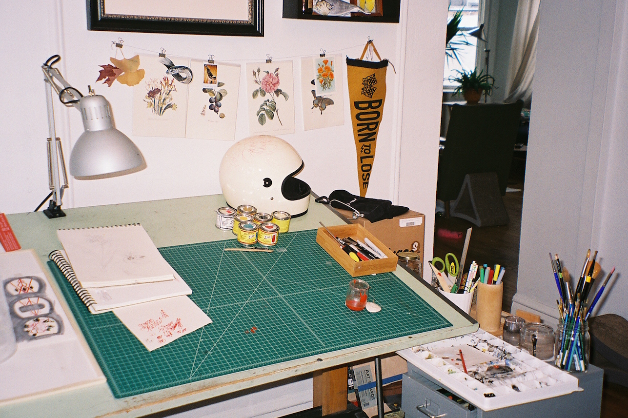 draft table in studio