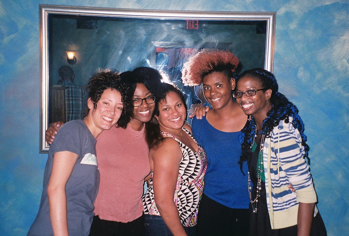 Damn Gina at The Tigress after our interview. From left: Cene Hale, Ronnie Miller, Tauri Laws-Phillips, Xaria Coleman, and Maggie Maye