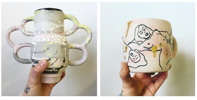 Leah's ceramic art, photos by Leah Ball