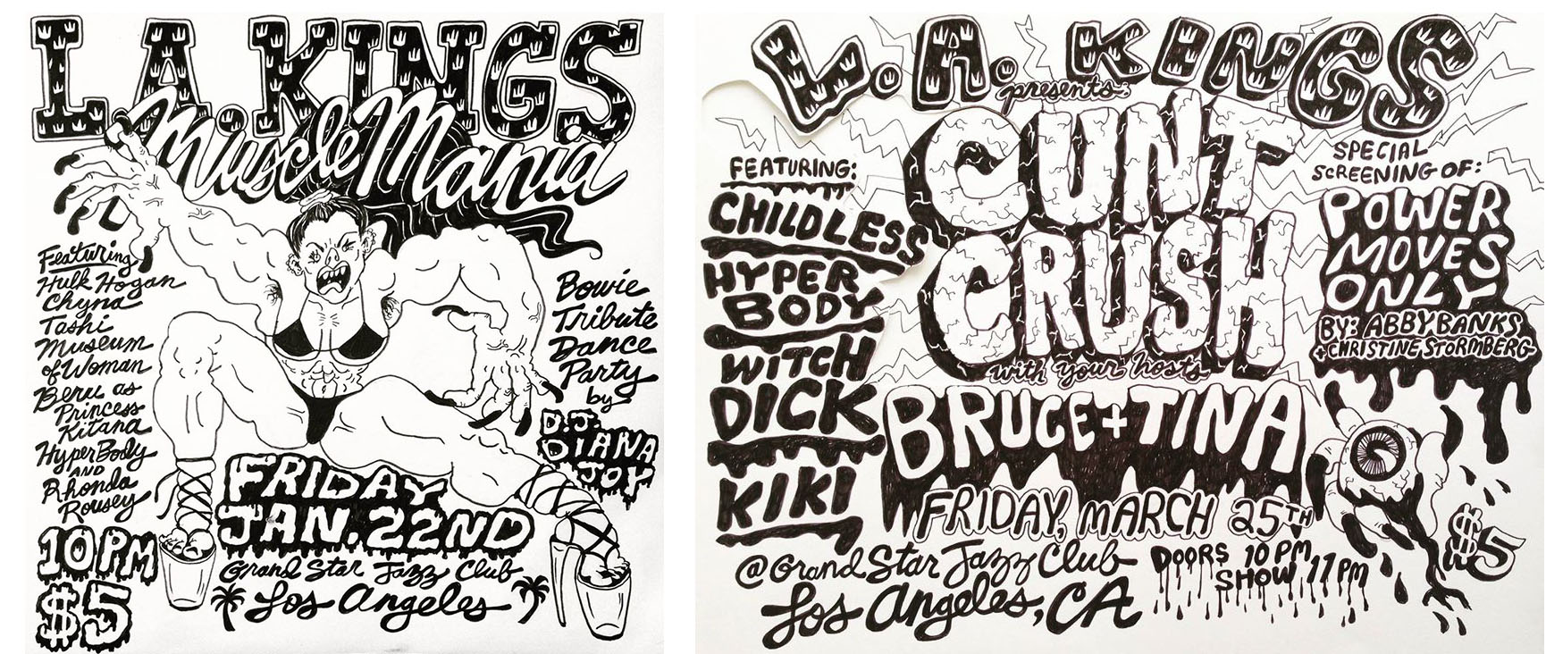 Posters for LA Kings show by Tina.