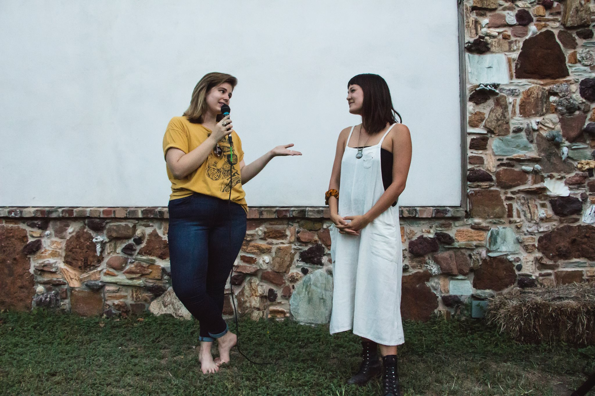 Jane and director Samantha Skinner at the Babes Fest summer film screening. Photo by Tess Cagle
