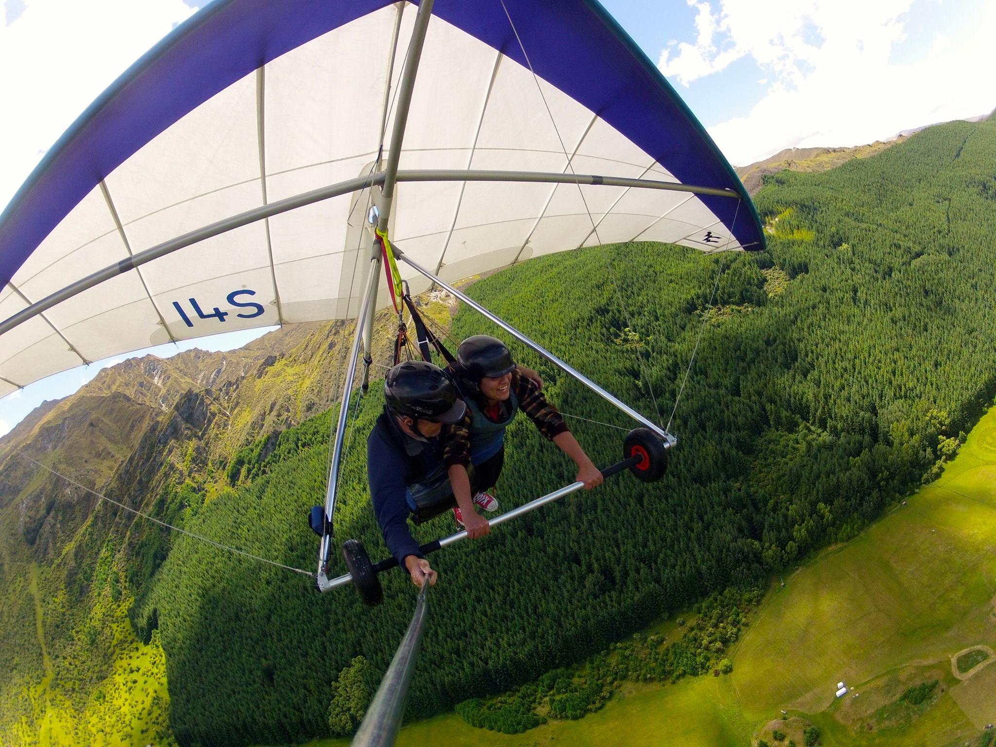 Ayisha, born to hang glide.